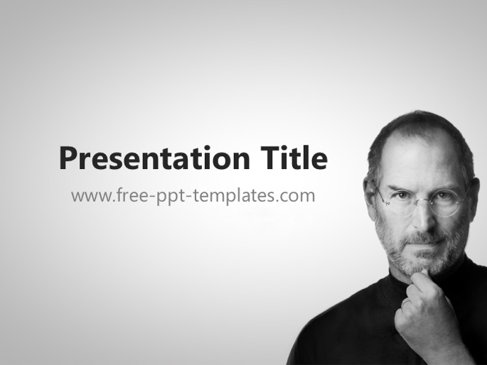 steve jobs ppt template, Modern powerpoint