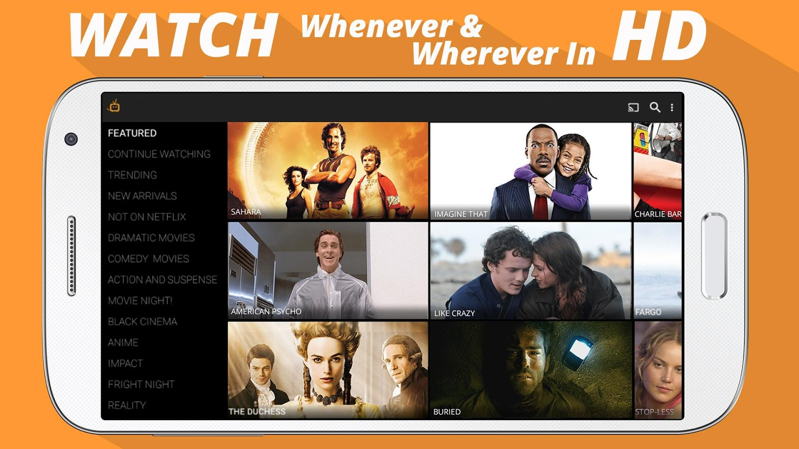 Phone How To Watch Free Movies On Android Phone tubi tv top free streaming app for android movies shows all devices watch hd documentaries on phone tablets boxes fire