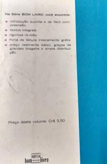 Éramos seis. Maria José Dupré. Editora Ática (São Paulo-SP). Coleção Bom Livro. 1972. Contracapa.