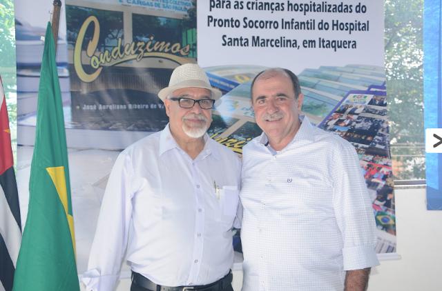 Ribeiro, o presidente do sindicato, e o deputado estadual João Caramez