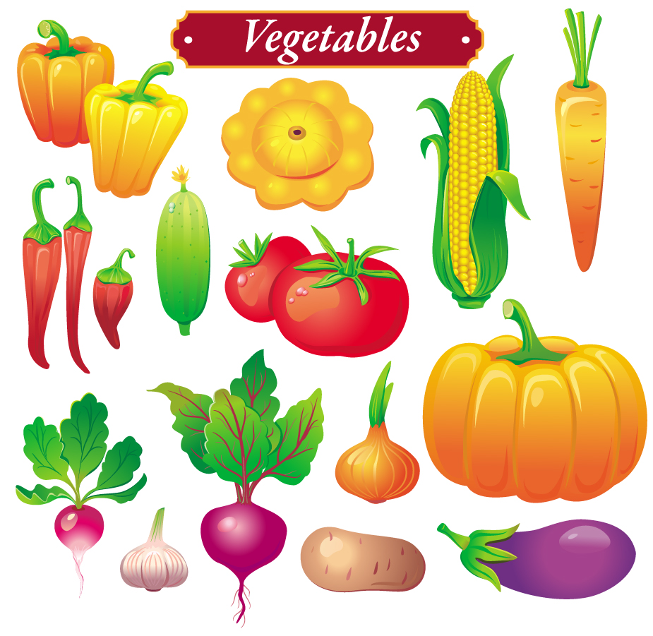 free vector vegetables clipart - photo #3
