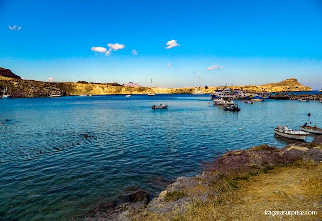 Enseada de Lindos, Rodes, Grécia