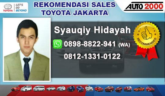 Rekomendasi Sales Toyota Wahid Hasyim, Jakarta Pusat