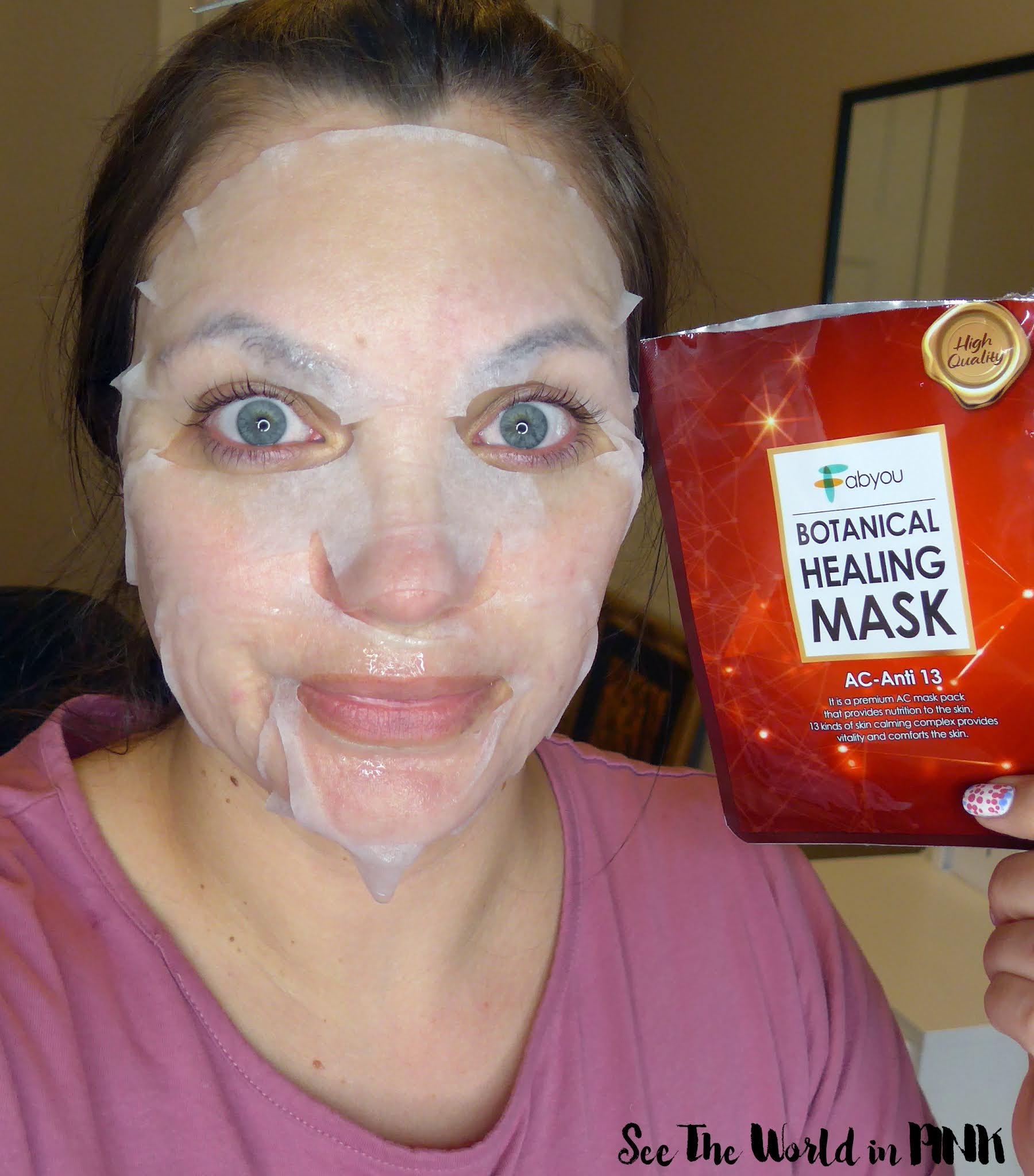 Mask Wednesday - FabYou Botanical Healing Masks