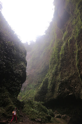 Pemandangan eksotis menuju tumpak sewu