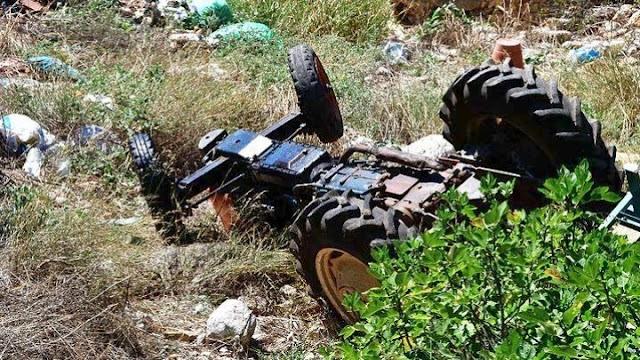 62χρονος αγρότης έχασε τη ζωή του πέφτοντας με τρακτέρ από γέφυρα