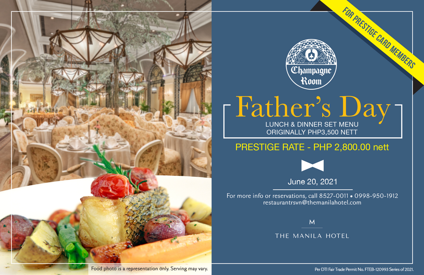 It's Father's Month at The Manila Hotel!