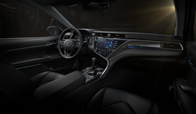 Interior view of 2017 Toyota Camry Hybrid SE