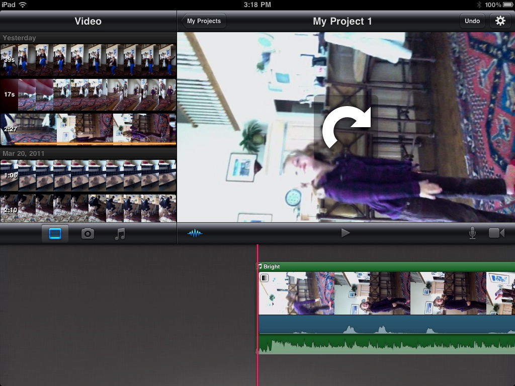 Granny Joan's Hitek Lady Blog: Making a Movie with iPad 2