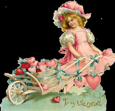 pretty antique valentine