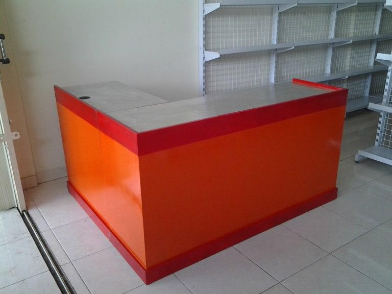 Meja Kasir Kayu Rak Gudang Rak Minimarket Rak Besi