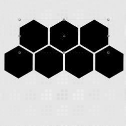 cara membuat pola sarang madu di photoshop