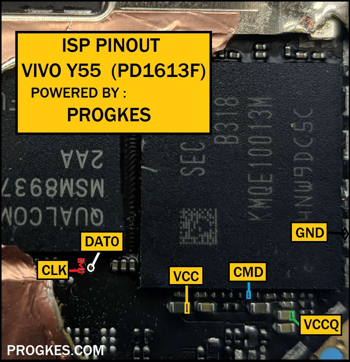Media Care Indonesia  Isp Pinout Vivo Y55  Pd1613f