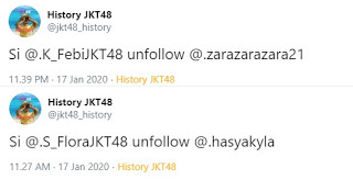 Flora and Febi JKT48 unfollow Zara and Kyla, fans celebrating