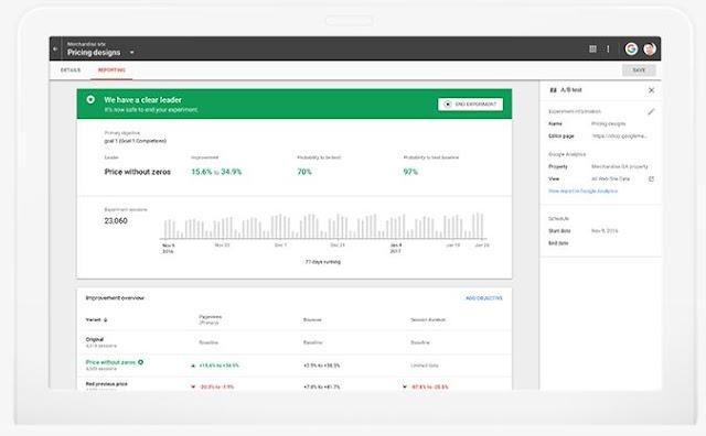 Google Optimize免費版做A/Btest功能更完整