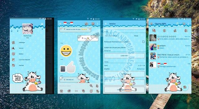 download BBM Mod Mooo Tema Sapi Terbaru Update Versi 2.13.1.14