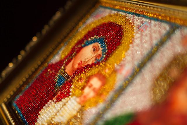 богородица вышивка бисер