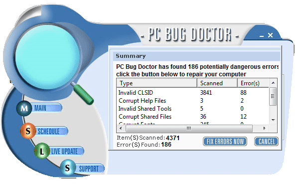 PC Bug Doctor (Falso optimizador)