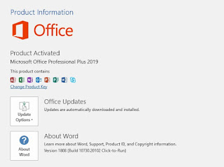 Microsoft Office 2019 activated