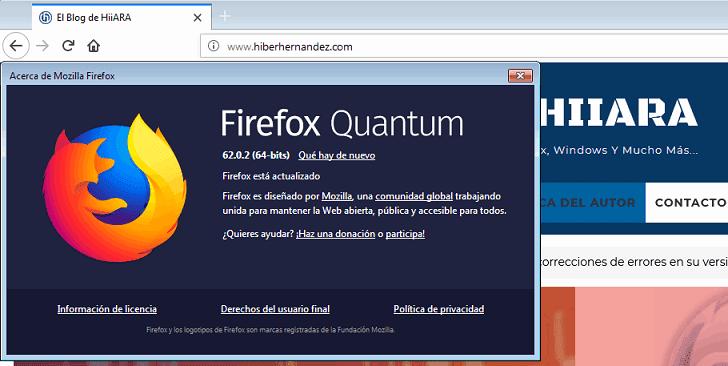 Mozilla Firefox 62.0.2 liberado - El Blog de HiiARA