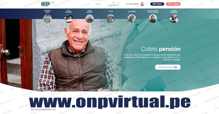 ATENCIÓN PENSIONISTAS ONP: En julio podrán cobrar en su casa previa inscripción en www.onpvirtual.pe
