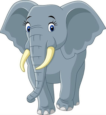 Gambar gajah kartun