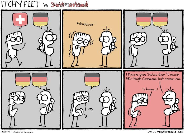 Itchy Deutsch