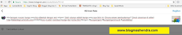 Cara Upload Foto dan Video ke Instagram Melalui PC Atau Laptop - Blog Mas Hendra
