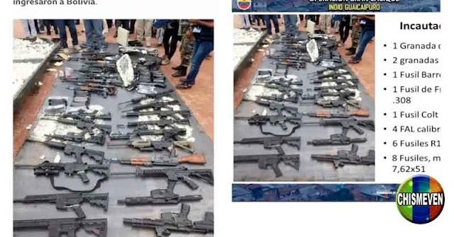 FRAUDE   Fotos de armas del Koki mostradas por el Régimen son de Bolivia en el 2017