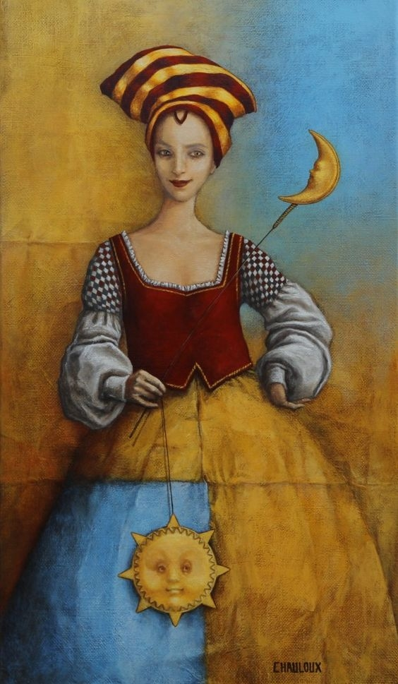 10-Le-Soleil-A-Rendez-Catherine-Chauloux-Paintings-of-Surreal-Worlds-and-Characters-www-designstack-co