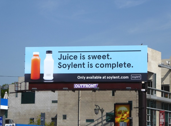 Juice sweet Soylent complete billboard