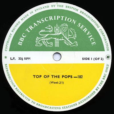 BBC Transcription Services Top Of The Pops Vol.182