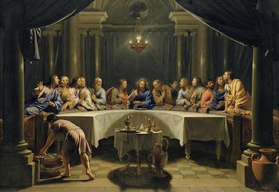 The Last Supper, ca. 1678, oil on canvas,  Detroit Institute of Arts Museum by Jean-Baptiste de Champaigne