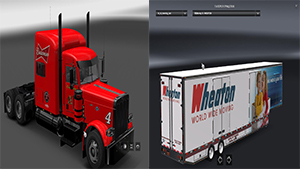 Kevin Harvik & RD MMoving pack for Peterbilt 389