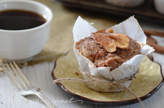 Rustic Apple Muffins with Crumb Topping | www.andersonandgrant.com