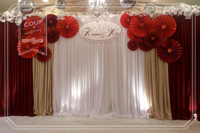 Wedding Decoration - colour theme: Red & Paper Fan @ Tsim Sha Shui 1 Peking