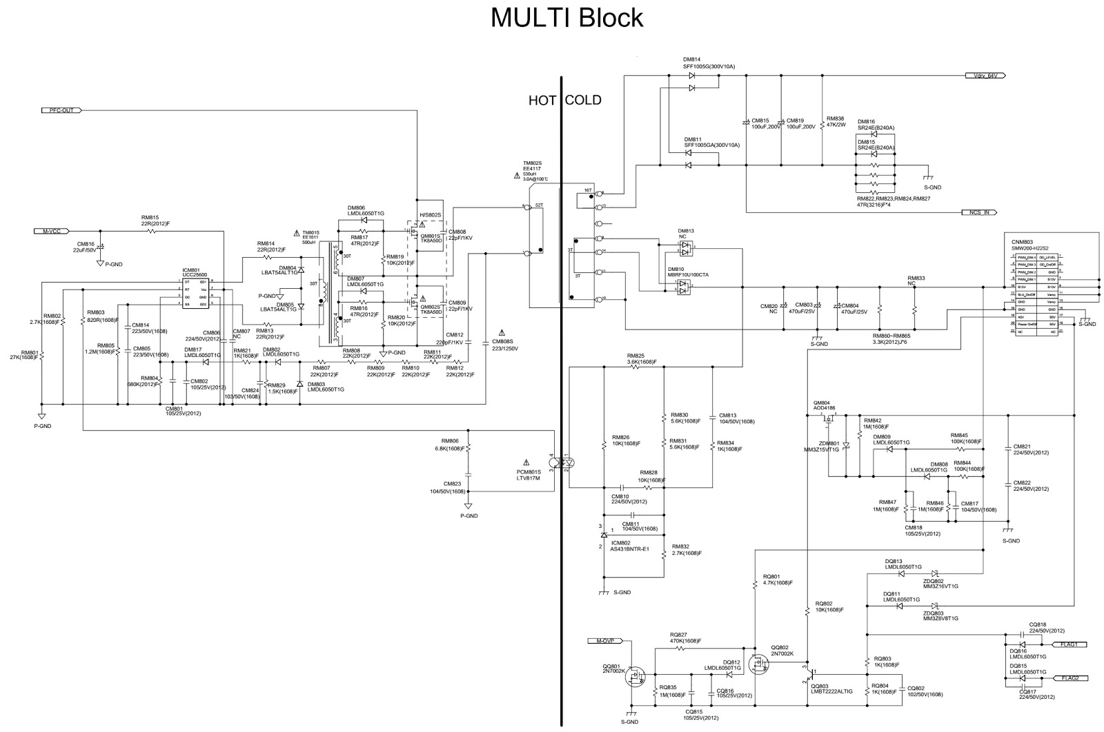 BN44-00520C – Samsung UE40ES6560 SMPS Schematic | Electro help
