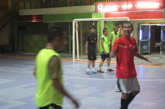 Serunya Futsal Bareng Wartawan Vs Denpom II/I Bengkulu