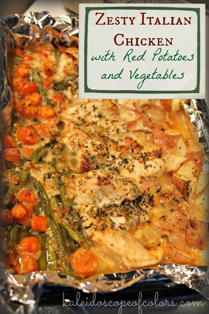 Zesty Italian Chicken with Red Potatoes and Vegetables #recipes #thingstocookforsupper #food #foodporn #healthy #yummy #instafood #foodie #delicious #dinner #breakfast #dessert #yum #lunch #vegan #cake #eatclean #homemade #diet #healthyfood #cleaneating #foodstagram
