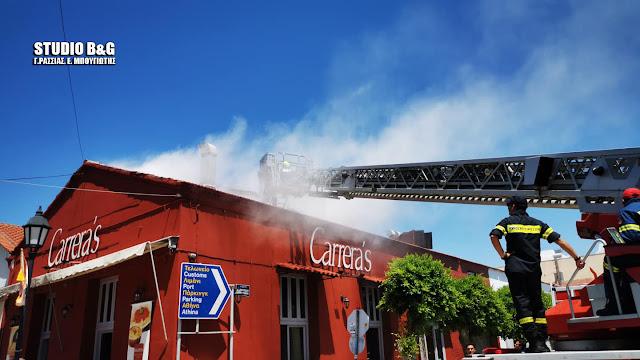 Φωτιά σε κατάστημα εστίασης στο Ναύπλιο (βίντεο)