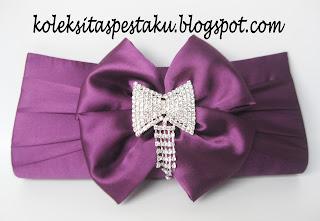 Tas Pesta G5U Ungu Purple Bross Jurai Silver