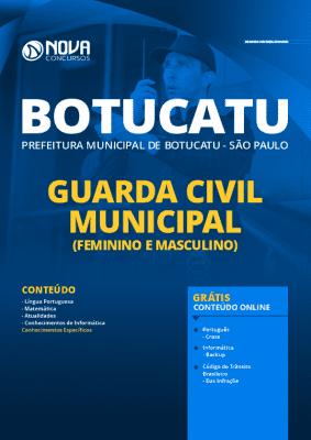 Apostila Concurso Prefeitura de Botucatu 2020 PDF e Impressa Guarda Municipal Grátis Cursos Online