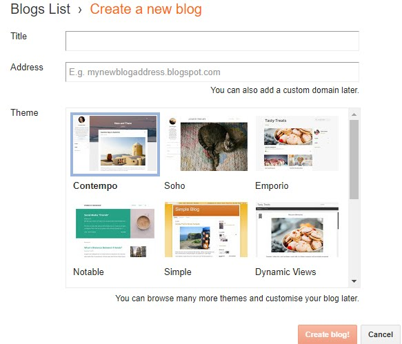 Blogger Themes And Tools