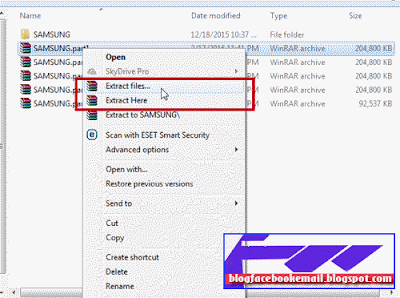 cara menggabungkan file part 1part 2 dengan rar
