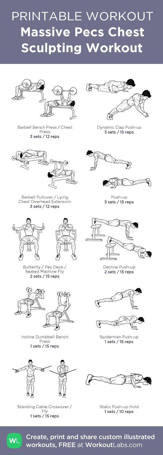 Bodybuilding Figurines Printable Workout For Bodybuilders