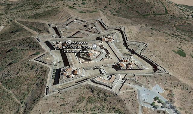 Vista de google maps de Fuerte de Gracia de Elvas