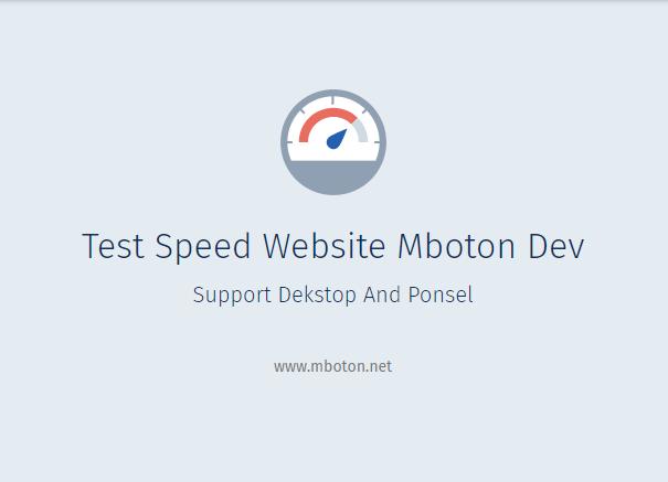 5 Test Speed website Free