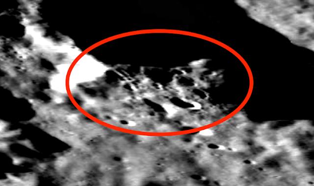Extrañas formas en el lado oscuro de la luna, mapa lunar LROC, fotos 4