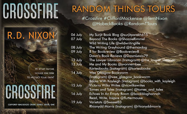 Crossfire by R.D. Nixon book blog tour banner