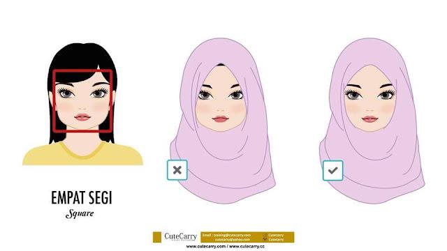 Gaya Hijab Yang Sesuai Mengikut Bentuk Muka